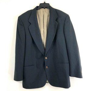 Oscar De La Renta Men S 44 Sport Jacket Blue Brown